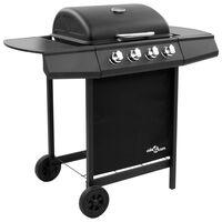 vidaXL Griglia Barbecue a Gas con 4 Bruciatori Nera