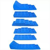 ProPlus Set di Livellatori per Roulotte Impilabili in Plastica Blu