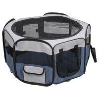 FLAMINGO Box per Animali Domestici Flavio 74x74x35 cm S Blu