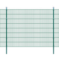 vidaXL Pannello di recinzione 2D giardino con paletti 2008x1630 mm 34m verde