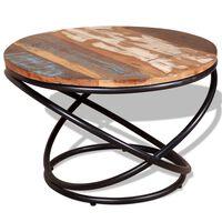 vidaXL Tavolino da Caffè in Legno Massello Recuperato 60x60x40 cm