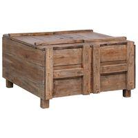 vidaXL Tavolino da Caffè 65x65x38 cm in Legno Massello di Recupero