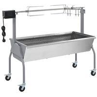 Barbecue XL a carbone con griglia e girarrosto elettrico