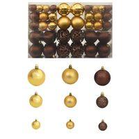 vidaXL Set Palline di Natale 100 pz 6 cm Marrone/Bronzo/Oro