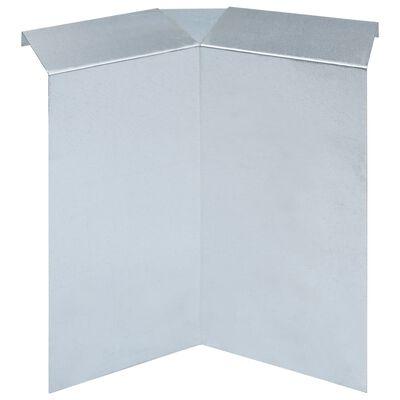 vidaXL Recinzione per Lumache in Acciaio Zincato 392x25 cm