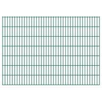 vidaXL 2D Pannelli Recinzione Giardino 2,008x1,43 m 4 m (Totale) Verde
