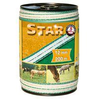 Kerbl Nastro per recinzione elettrica Star PE 200 m 12 mm 441501