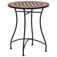 vidaXL Tavolino da Bistrot con Mosaico Marrone 60 cm in Ceramica