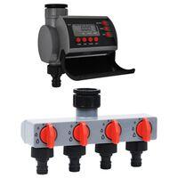 vidaXL Timer per Irrigazione a Uscita Singola e Distributore Acqua