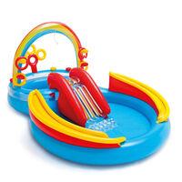 Intex Piscina Gonfiabile Rainbow Play Center 297x193 x135 cm 57453NP