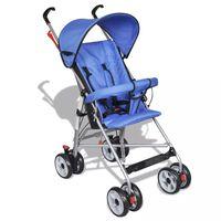 vidaXL Passeggino per Bambini Stile Moderno Blu