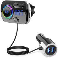 Trasmettitore FM wireless per auto, bluetooth 5.0 - nero