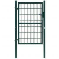 vidaXL Cancello Staccionata 2D (Singolo) Verde 106 x 190 cm