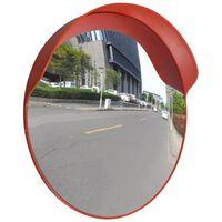 vidaXL Specchio per Traffico Convesso Plastica PC Arancione 60 cm