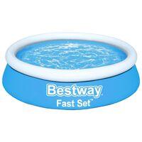 Bestway Set Piscina Gonfiabile Fast Rotonda 183x51 cm Blu
