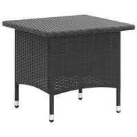 vidaXL Tavolino da Tè Nero 50x50x47 cm in Polyrattan