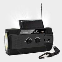 Radio di sopravvivenza multifunzionale con pannello solare e manovella