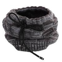 Cappello / sciarpa invernale multifunzionale - nero / grigio