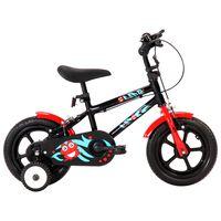 vidaXL Bici per Bambini 12 Pollici Nera e Rossa