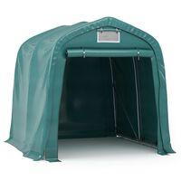 vidaXL Tenda Garage in PVC 2,4x2,4 m Verde