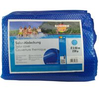 Summer Fun Copertura Solare per Piscina Rotonda 350 cm in PE Blu