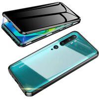 Cover mobile con vetro temperato bifacciale per XiaoMi CC9 PRO - Nero