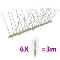 vidaXL Set Dissuasori per Uccelli e Piccioni 6 pz 4 File 3 m