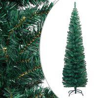 vidaXL Albero di Natale Artificiale Sottile Supporto Verde 240 cm PVC