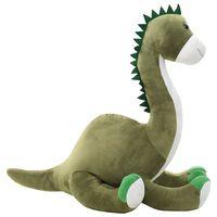 vidaXL Giocattolo di Peluche Dinosauro Brontosauro Verde