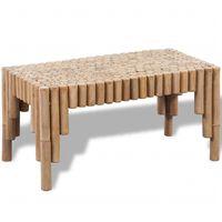 vidaXL Tavolino da Caffè in Bambù