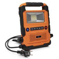 Smartwares Luce da Lavoro LED Altoparlante Bluetooth 27x30x6cm Arancio