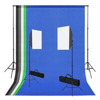 vidaXL Set Studio Fotografico con Luci Softbox e Sfondi