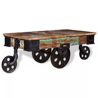 vidaXL Tavolino da Caffè in Legno di Recupero 90x45x35 cm