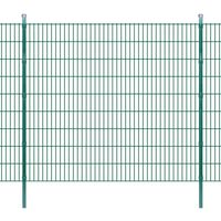 vidaXL Pannello di recinzione 2D giardino con paletti 2008x1830 mm 48m verde