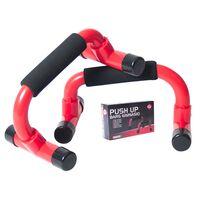 Supporti Fitness Push up - Push-up Bar 2 Pezzi - Schiuma - Rosso/Nero