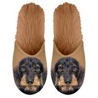 Plenty Gifts Pantofole in Peluche Bassotto Marroni Misura 39-42 42550