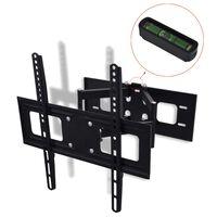 vidaXL Supporto TV 3D a Muro Inclinabile Girevole Staffa 400x400 mm