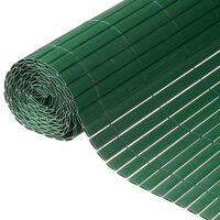 Nature Recinzione da Giardino a Doppio Lato in PVC 1x3 m Verde