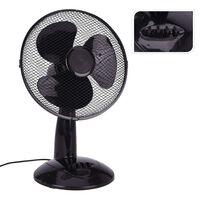 Excellent Electrics Ventilatore da Tavolo 45 W Nero