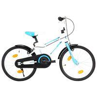 vidaXL Bici per Bambini 18 Pollici Blu e Bianca