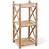 Scaffale a 3 piani in legno di bambù
