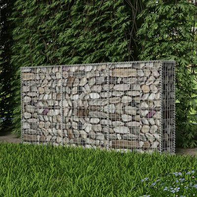 vidaXL Gabbione in Rete in Acciaio Zincato 200x30x100 cm