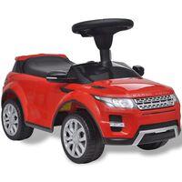 vidaXL Macchina a Spinta per Bambini Rossa con Musica Land Rover 348