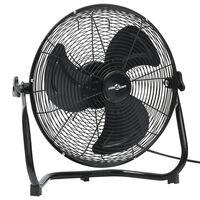 vidaXL Ventilatore da Pavimento a 3 Velocità 45 cm 60 W Nero