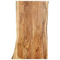 vidaXL Piano del Tavolo in Legno Massello di Acacia 100x(50-60)x2,5 cm