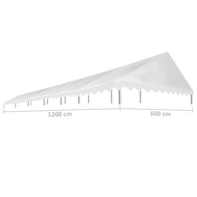 vidaXL Tetto per Tendostruttura 6x12 m Bianco 450 g/m²