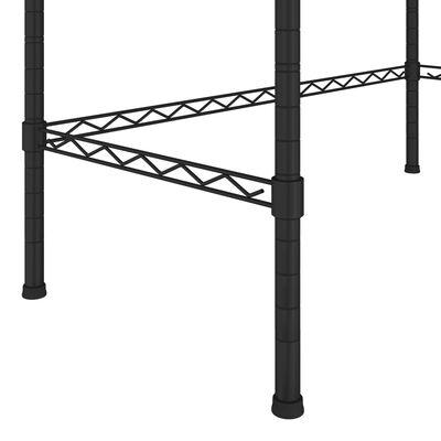 vidaXL Scaffale per Lavatrice con 2 Ripiani Argento 75x35x150 cm
