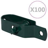 vidaXL Tenditori di Filo per Recinzione 100 pz 90 mm in Acciaio Verde