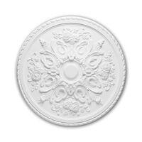 Profhome Decor 156025 Rosone Soffitto Parete Bianco