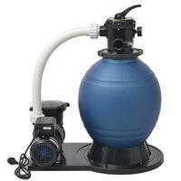 vidaXL Pompa con Filtro a Sabbia 1000 W 16800 l/h XL